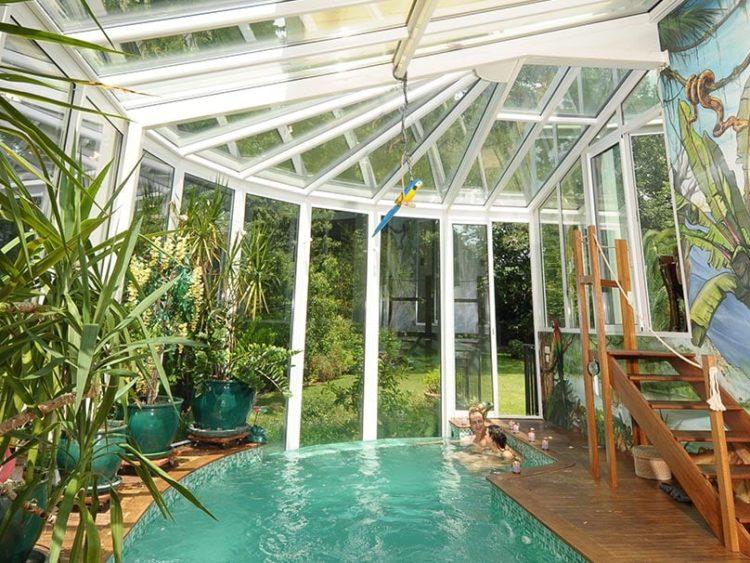veranda pour piscine couverte var